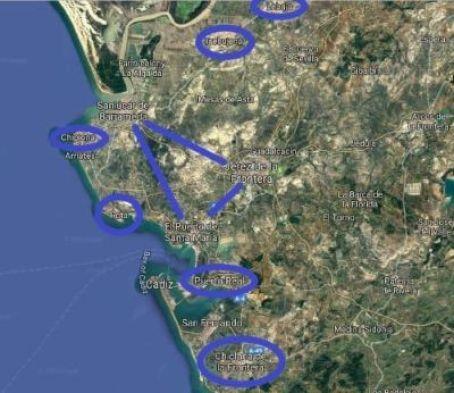 Marco de jerez Explore la Tierra Ruta vino de jerez de las bodegas del vino de jerez por Cadiz