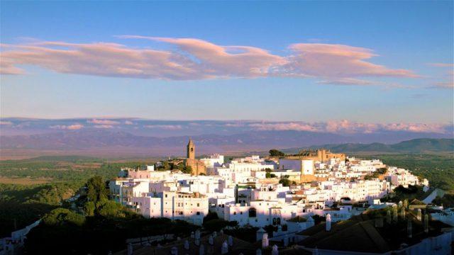 Vejer de la frontera viewpoint panorama statue of jesus Cadiz Explore la Tierra