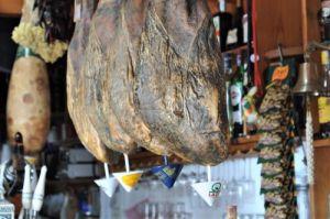 Iberian ham in local bar at vejer de la frontera Explore la Tierra day tour