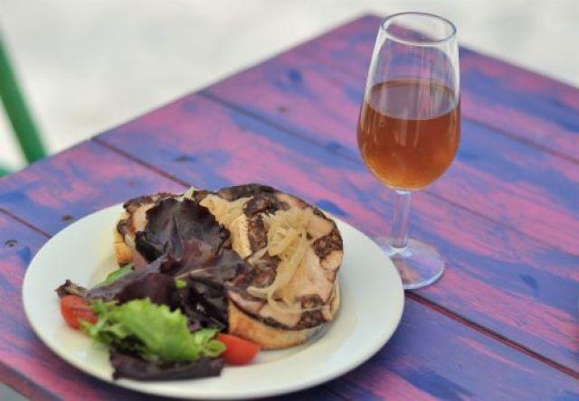 Palo cortado with Morcon and caramelized onions vejer de la frontera Explore la Tierra day tour