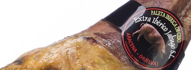 Iberian ham black label From Huelva Spain