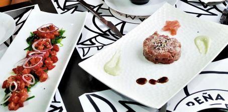 tartar and almadraba bluefin tuna diced