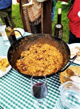 Olive oil tour traditional lunch dish in white village Zahara de la Sierra Cadiz