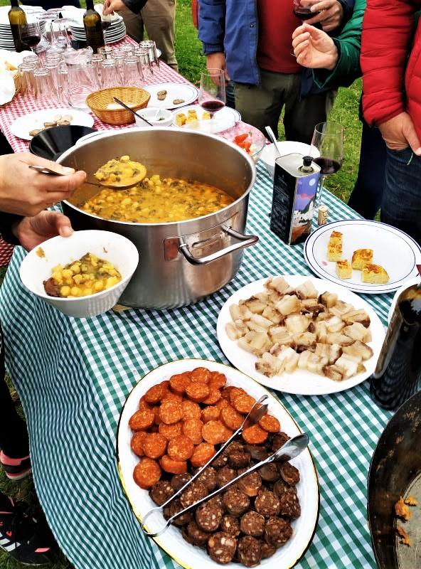 Olive oil tour traditional lunch for farmers in white village Zahara de la Sierra Cadiz
