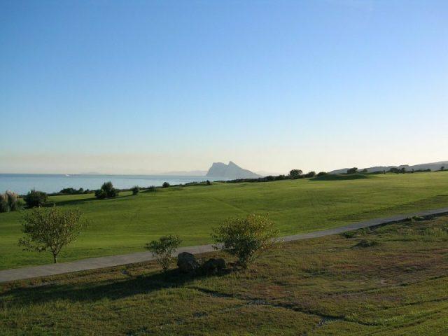 Golf courses Sotogrande views of Gibraltar