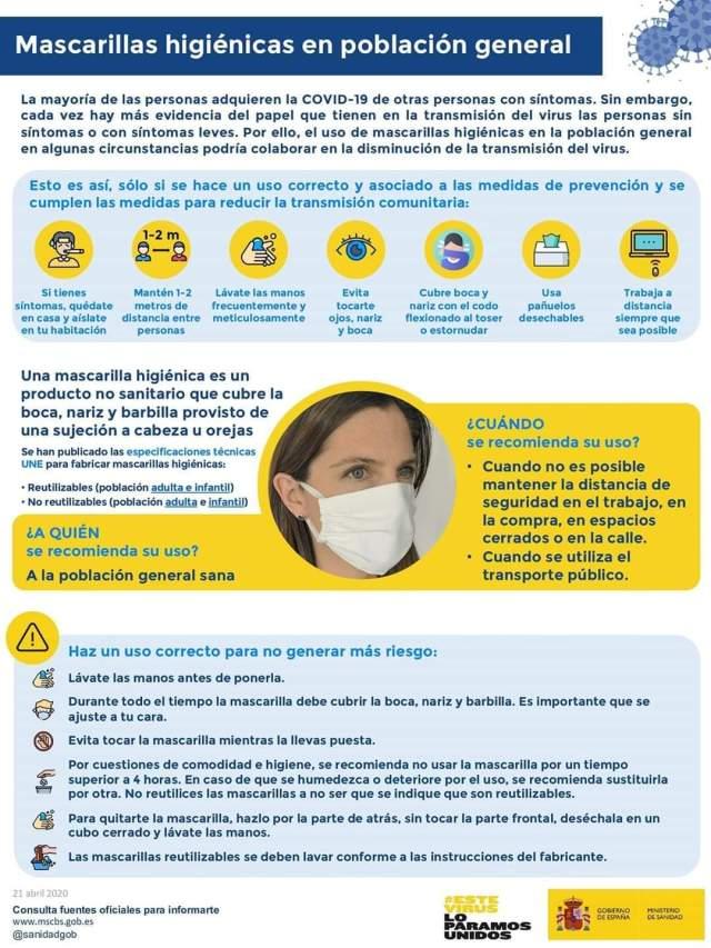 mascarilla higiénica COVID-19 para Sello Andalucía segura en Vejer de la Frontera Explore la Tierra