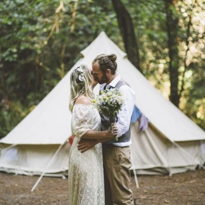 luxury camping wedding