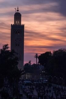 Sunset over Djemaa el-Fnaa