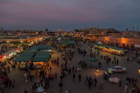Djemaa el-Fnaa is already busy in the day, but the real hustle and bustle starts at night when it becomes the cultural heart of Marrakesh.
