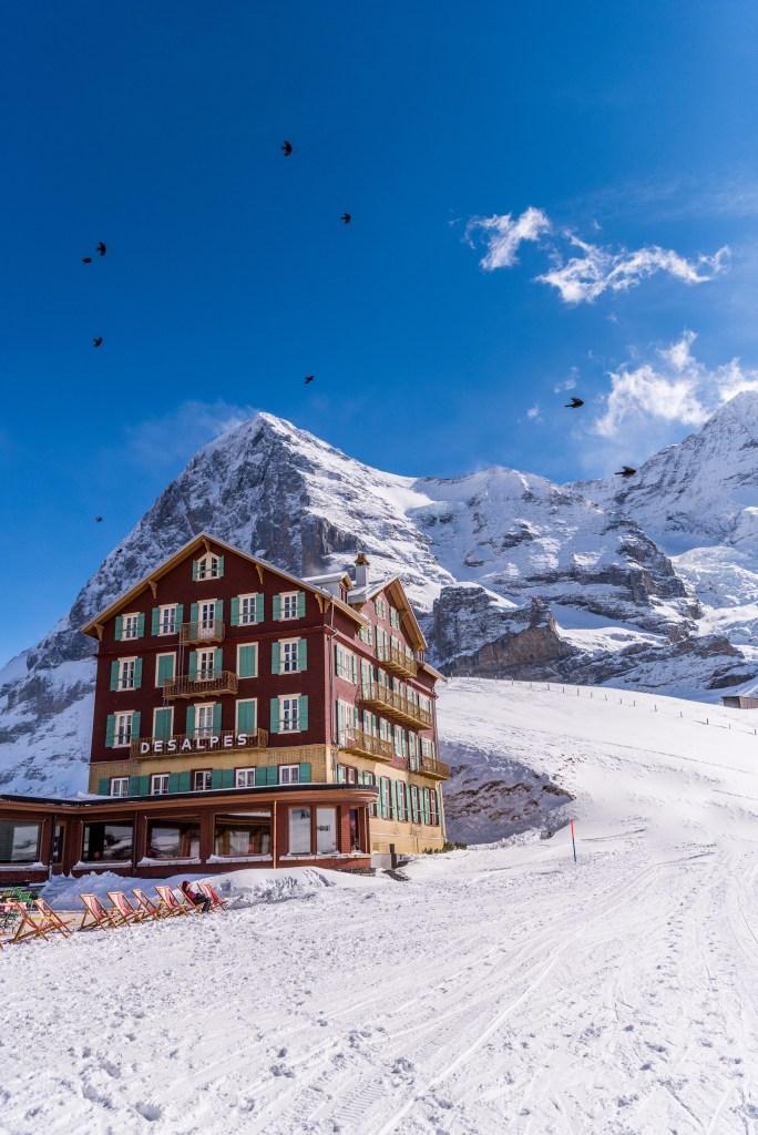 Ein Hotel auf der kleinen Scheidegg