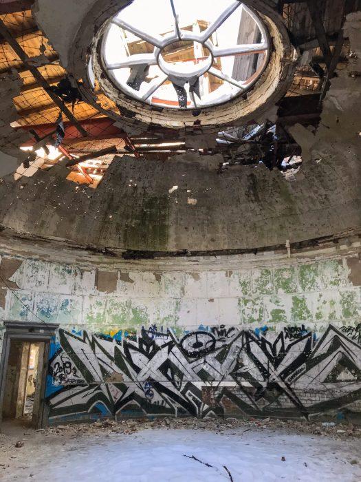Crumbling rotunda inside