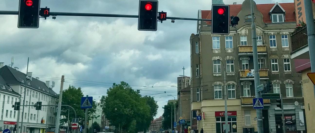 Stoplight countdown in Poland