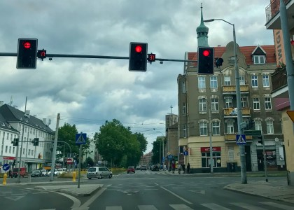 Stoplight countdown in Poland