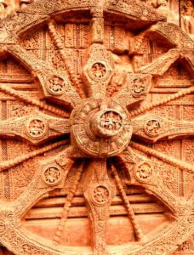 Sun wheel of Konark sun temple