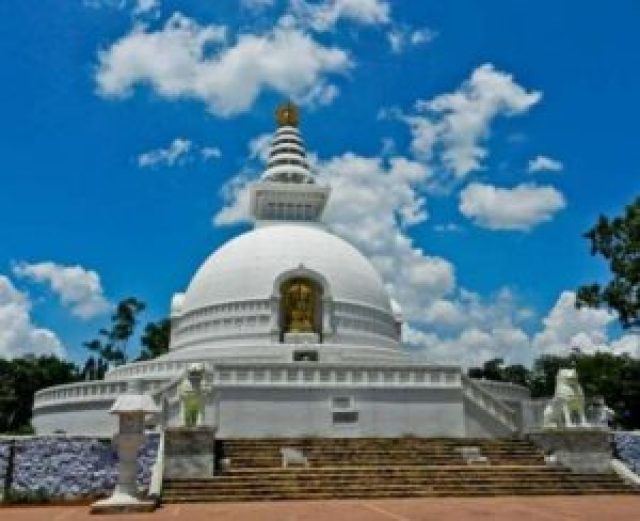 Vishwa Shanti Stupa, major attraction in Rajgir