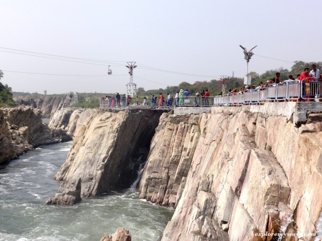 Rope-way at Bhedaghat, Jabalpur