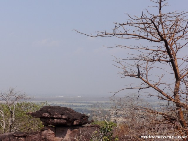 tortoise rock at bhimbetka rock shelters