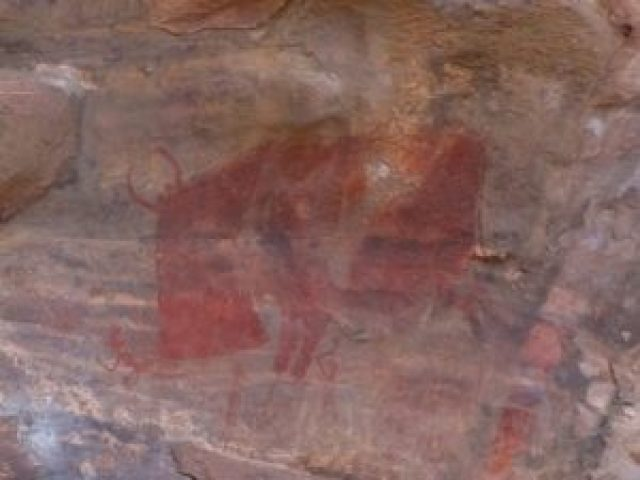 cave painting images at bhimbetka