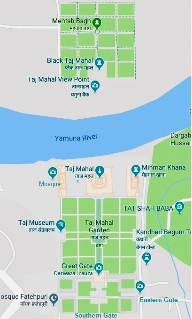 Layout of Great Taj Mahal