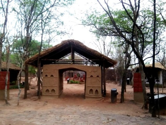 life size hut of tribes