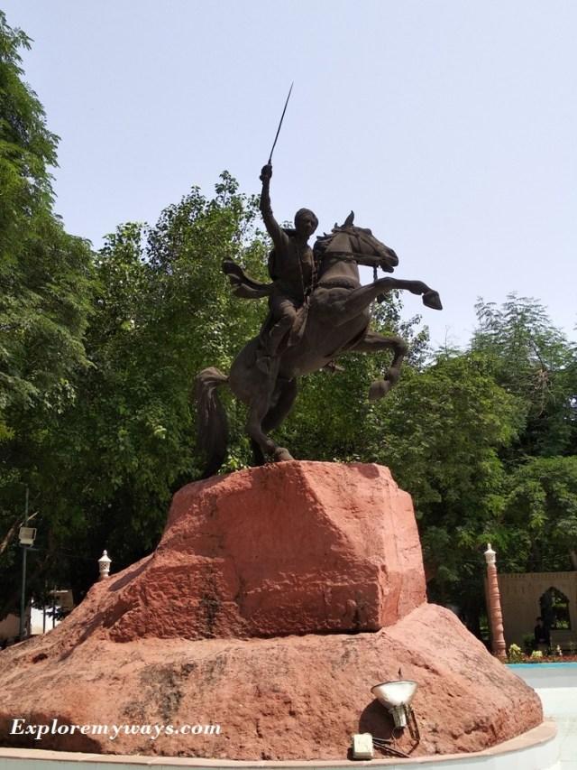 Samadhi of Jhansi ki Rani