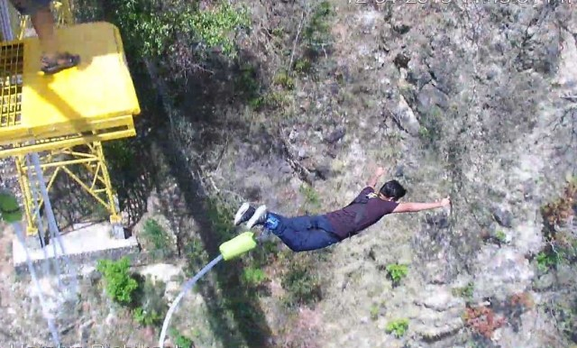 Experience of bungee jumping in India