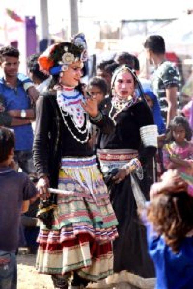 Street artist at Pushkar fair