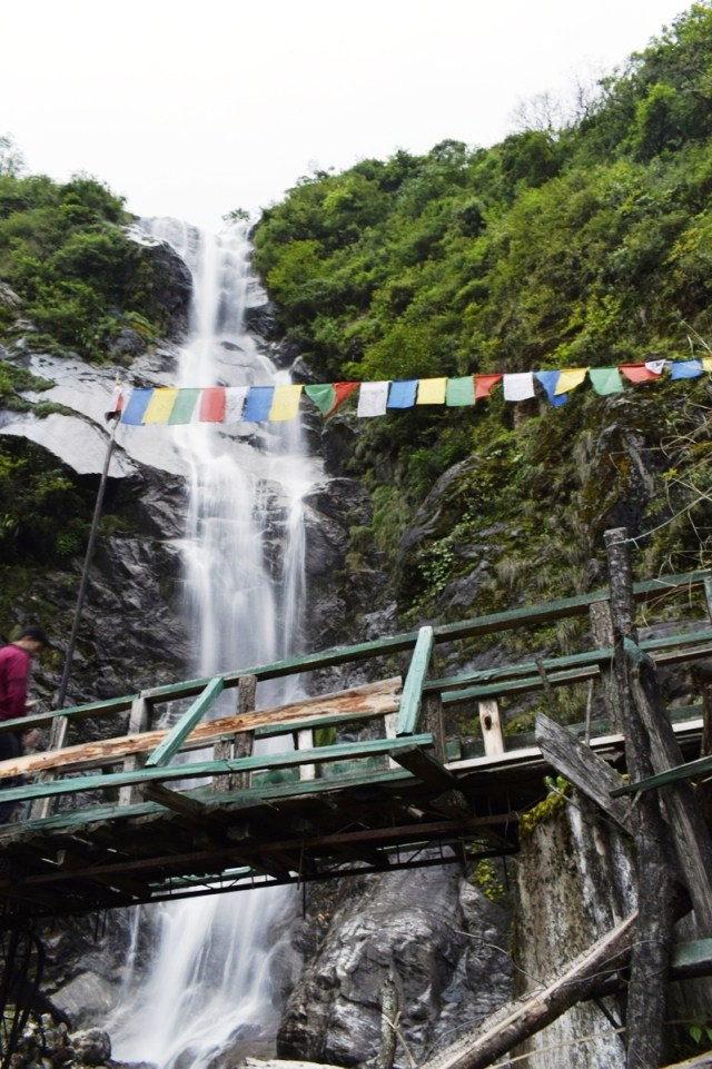 Water fall in North Sikkim