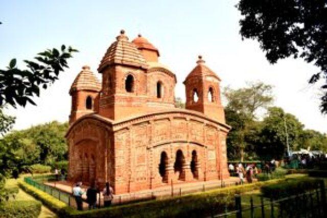 panch chura terracotta temple bishnupur