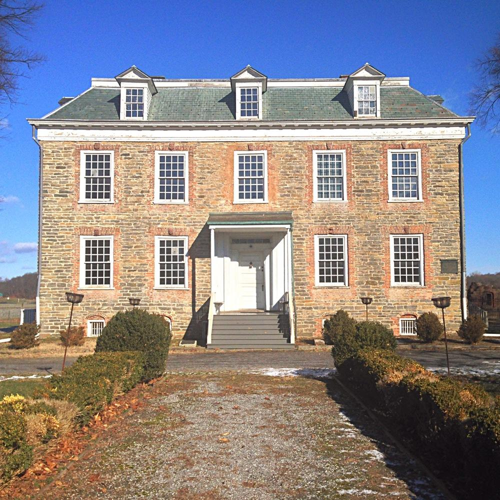 The 1748 Van Cortlandt House.  Washington stayed here three times during the Revolutionary War.