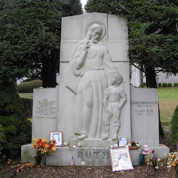 Ruth's grave at Gate of Heaven Cemetery