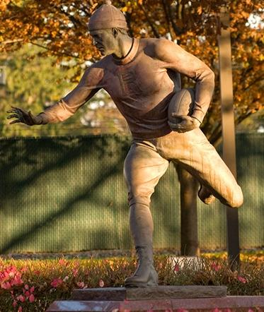 The First Football Game Monument at High Point Solutions Stadium (photo from Rutgers University website)