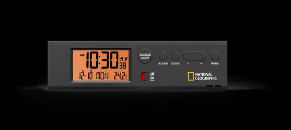 National Geographic – RC world time clock w. temperature and flashlight
