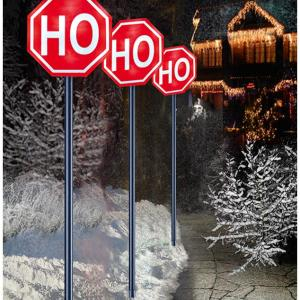 Christmas LED Battery Operated Ho-Ho-Ho Path Lights
