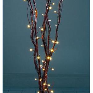 LED Christmas Twig Light Decorations, 1.2m Brown
