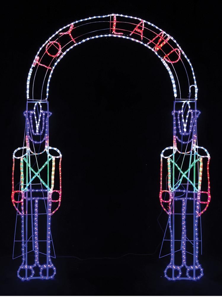 2.4m Toy Soldier Archway Rope Light