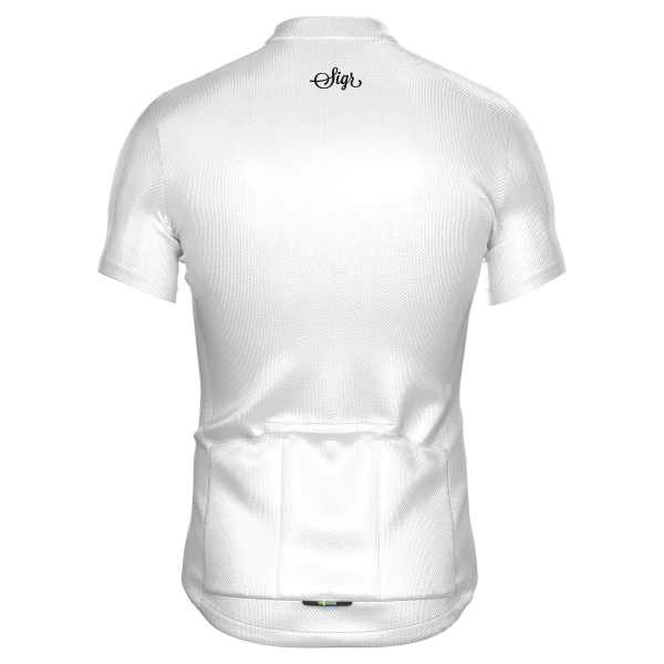 Sigr – Syren White Cycling Jersey for Men