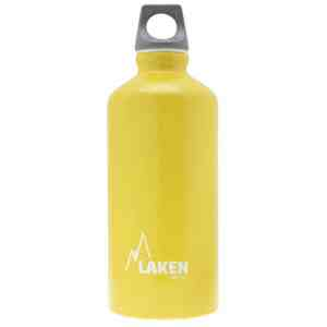 Laken – Alu. Bottle Futura 0.6L – Grey Cap – Yellow Bot