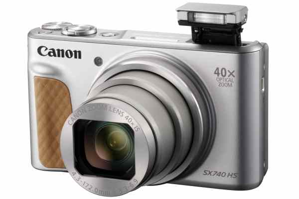 Canon PowerShot SX740 HS 20.3MP 40x Zoom Compact Camera – Silver