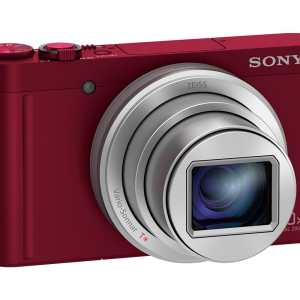Sony DSC-WX500 18MP 30x Zoom Compact Camera – Red