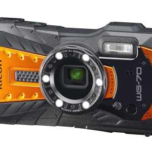 Ricoh WG-70 16MP 5x Zoom Tough Compact Camera – Orange