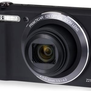 PRAKTICA Luxmedia Z212 20MP 12x Zoom Compact Camera with FREE Universal Pocket Sized Desktop Tripod – Black