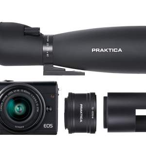 PRAKTICA 25-75x90mm DigiScoping Kit with Canon EOS M100 Compact Camera & 15-45mm Lens