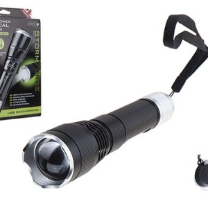 StormForce Rechargable 10W Cree Focus Beam Flashlight
