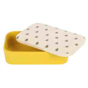 Bee Print Bamboo Lunch Box