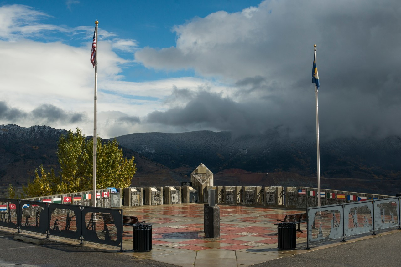 The memorial plaza atop Granite Mountain in Butte.