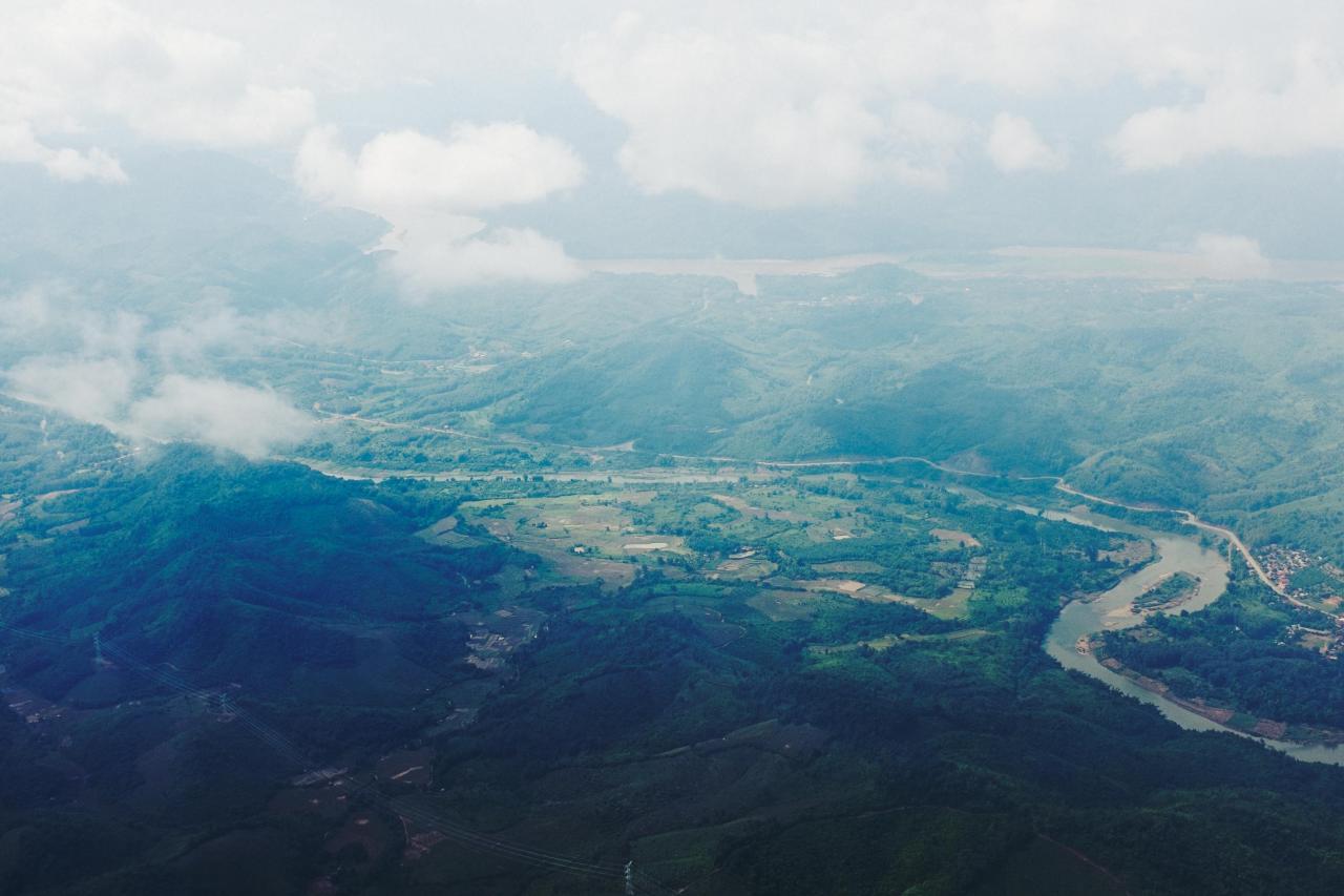 Flying into Luang Prabang.