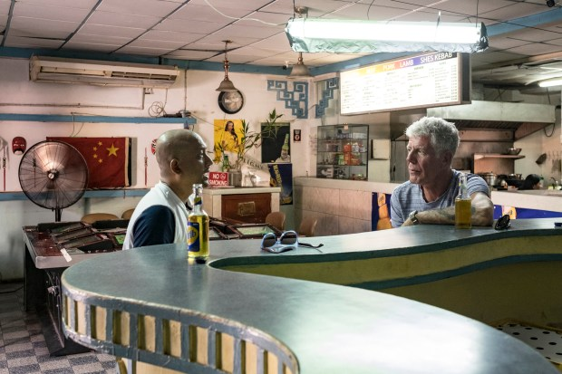 Bourdain with Mark Bassant.