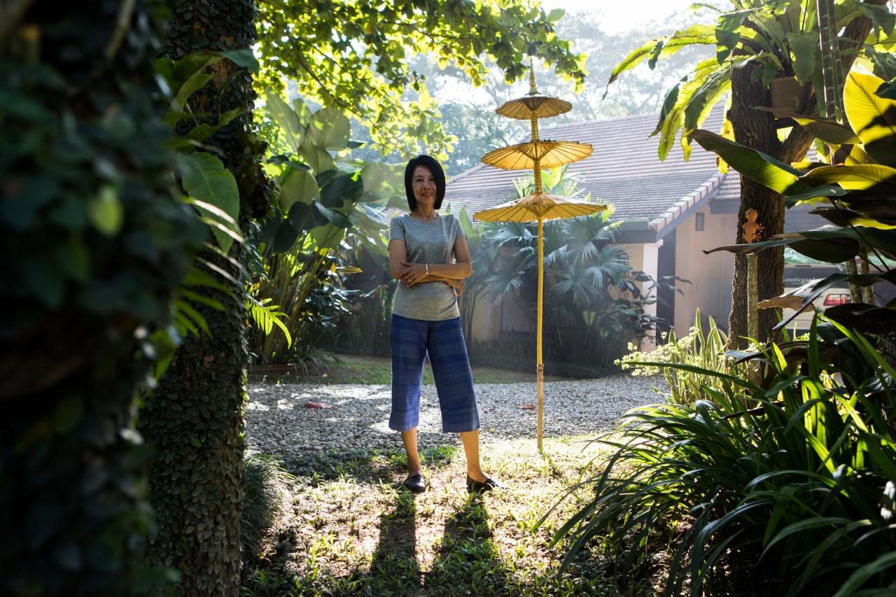 Katai Kamminga in her garden.