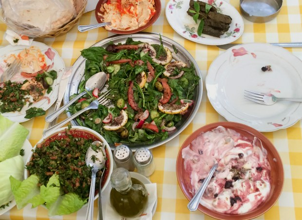 The spread at Al Falamanki.